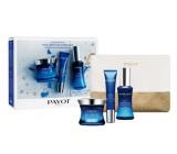 Payot Blue Techni Liss Jour vyhladzujúci chronoaktivní krém 50 ml + Regard vyhladzujúci chronoaktivní gel 15 ml + Concentré vypĺňajúci chronoaktivní sérum 30 ml, + toaletný taška, kozmetická sada