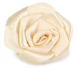 Ditipo Ruža saténová nalepovacie béžová 5 cm