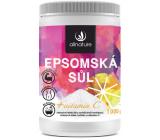 Allnature Epsomská soľ Horčík, síran a Vitamín C do kúpeľa na regeneráciu svalov s omladzujúcim účinkom 1000 g