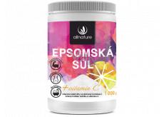 Allnature Allnature Epsomská soľ Horčík, síran + Vitamín C do kúpeľa na regeneráciu svalov s omladzujúcim účinkom 1000 g