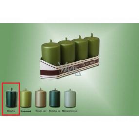 Lima Sviečka hladká metal zelená valec 40 x 70 mm 4 kusy