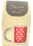 Albi Espresso hrnček v krabičke Bodky 100 ml
