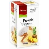 Apotheke Natur Pu-erh a ananás čaj napomáha v boji s nadváhou 20 x 1,8 g