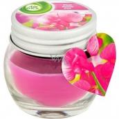 Air Wick Ružové kvety stredomoria vonná sviečka sklo mini 30 g