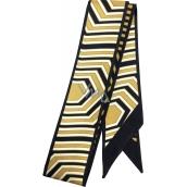 Bvlgari Goldea the Roman Night hedvábný šátek do vlasů 85 x 4,7 cm