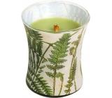 WoodWick Decal Fern - Kapradina vonná svíčka s dřevěným knotem a víčkem sklo střední 275 g