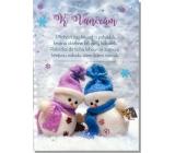 Albi Hracie prianie do obálky K Vianociam Dva snehuliaci Cover verzia Jingle Bell rock 15,5 x 22 cm