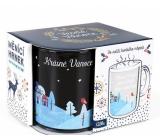 Albi Měnící skleněný hrnek Krásné Vánoce jsou o lidech, které máme 310 ml