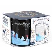 Albi Meniace sklenený hrnček Krásne Vianoce sú o ľuďoch, ktoré máme 310 ml