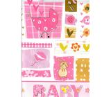 Nekupto Darčeková papierová taška 32,5 x 26 x 13 cm Baby dievčatko ružová 1 kus 1558 30 KFL