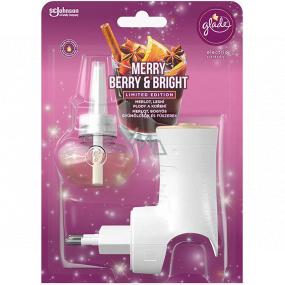 Glade Electric Scented Oil Merry Berry & Bright s vôňou merlotu, lesných plodov a korenín elektrický osviežovač vzduchu strojček s tekutou náplňou 20 ml