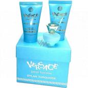 Versace Dylan Turquoise toaletná voda pre ženy 5 ml + telový gél 25 ml + sprchový gél 25 ml, mini darčeková sada