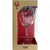 Albi Môj Bar Pohár na víno 1981 220 ml