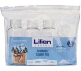 Lilien Travel Kit cestovná sada fľaša so závitovým uzáverom 3 x 75 ml + nádobka na krém 3 x 10 ml