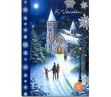 Albi Svietiace prianie do obálky K Vianociam Lidi idú do kostola na polnočnú 14,8 x 21 cm