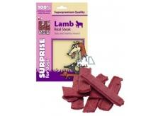 Huhubamboo Pravý jahňacie steak prírodná mäsová pochúťka pre psov 75 g