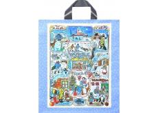 Igelitová taška Ladovy obrázky 46 x 40 cm