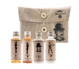 Bohemia Gifts & Cosmetics Travel Pack Gentleman sprchový gél pre mužov 50 ml + šampón na vlasy 50 ml + telové mlieko 50 ml + fľaštička k naplneniu 50 ml, cestovné kozmetická sada pre mužov