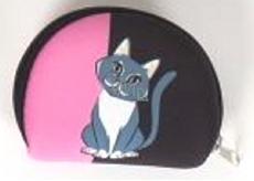 Albi Original Neoprén Mini peňaženka Mačka 8 x 6 cm x 1,5 cm