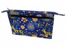 Abella Toaletná kozmetická kabelka 30 x 20,5 x 5,5 cm, vzor modrá NA04