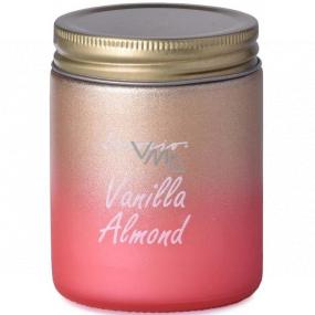 Emóciám Vanilla Almond - Vanilková mandle vonná sviečka sklo s plechovým viečkom 74 x 95 mm
