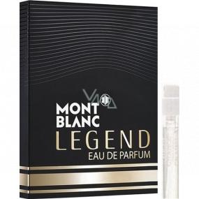 Montblanc Legend Eau de Parfum sprchový gél pre mužov 1,2 ml s rozprašovačom, vialka