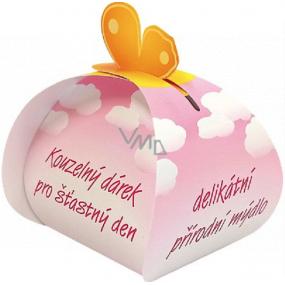 Čarovný darček Delikátna prírodné mydlo z rastlinných olejov šťastný deň 50 g