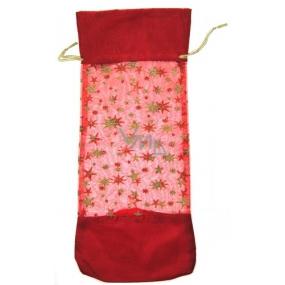 Darčeková taštička látková vianočný motív 37 x 16 cm 1 kus