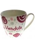 Nekupto Twister hrnek se jménem Vendula růžový 0,4 litru