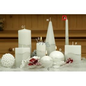Lima Artic svíčka bílá kužel 22 x 250 mm 1 kus