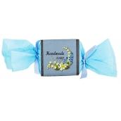 Bohemia Gifts & Cosmetics Blue Flower s glycerínom ručne vyrábané toaletné mydlo bonbón 30 g