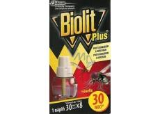 Biolit Plus Elektrický odpařovač s vůní citronelly proti komárům a mouchám náhradní náplň 30 nocí 31 ml
