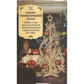 Albi Rodinný vianočný stromček drevený