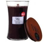 Woodwick Black Cherry - Čierna čerešňa vonná sviečka s dreveným knôtom a viečkom sklo veľká 609,5 g