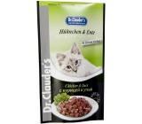 Dr. Clauders Kurča a kačica v omáčke kompletné krmivo s kúskami mäsa pre mačky kapsička 100 g