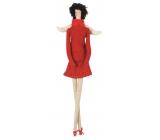 Andělka látková na posazení, v červeném 43 cm