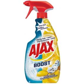 Ajax Boost Baking Soda & Lemon univerzálny čistiaci prostriedok odmasťuje, čistí, chráni jemné povrchy rozprašovač 500 ml