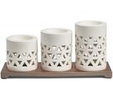 Yankee Candle Belmont Multi keramické svietniky na čajové sviečky s kovovým podstavcom, darčeková sada