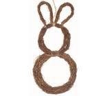 Prútený zajac na zavesenie 44 cm
