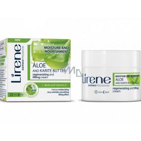 Lirene H & V Aloe Vera a Karité maslo Deň / Noc regeneračný liftingový krém pre všetky typy pleti 50 ml