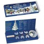 Betlemia Tradičné Vianočné liatie olova 6 kusov olovených mincí + taviace naberačka, súprava na liatie olova