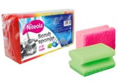 Cleanex Grip Scrub Sponge Ultra tvarovaná huba na riad 9 x 7 x 4,5 cm 4 kusy