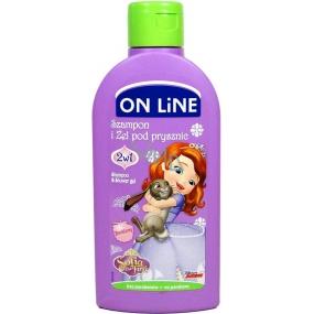 On Line Kids Sofia Čučoriedka 2v1 sprchový gél a šampón na vlasy pre deti 250 ml