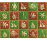 Nekupto Darčeková Kraftová taška strednej 23 x 18 x 10 cm červeno Zelené štvorca