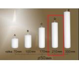 Lima Gastro hladká svíčka bílá válec 50 x 210 mm 1 kus