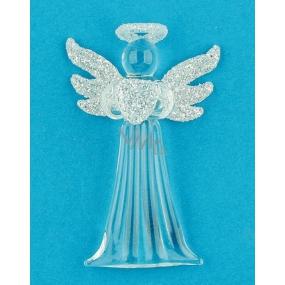 Anjel sklenený na zavesenie úzky 7,5 cm