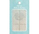 Nail Accessory Hollow Sticker šablónky na nechty multifarebné srdiečka 1 aršík 129