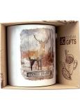 Bohemia Gifts Keramický hrnček s obrázkom Pre poľovníkov a milovníkov lesa 350 ml