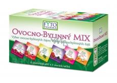 Fytopharma Ovocno - bylinný Mix čajov 6 druhov po 5 kusoch, 30 x 2 g