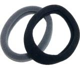 Vlasová gumička čierna, sivá 5 x 1 cm 2 kusy